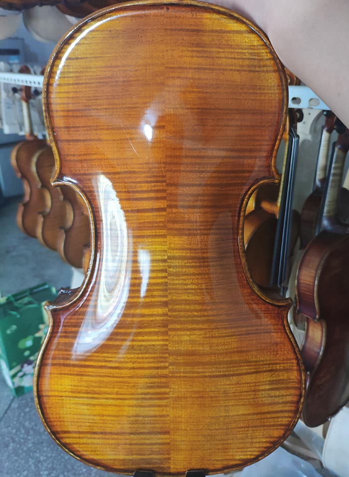 瓜式仿旧演奏级小提琴背板