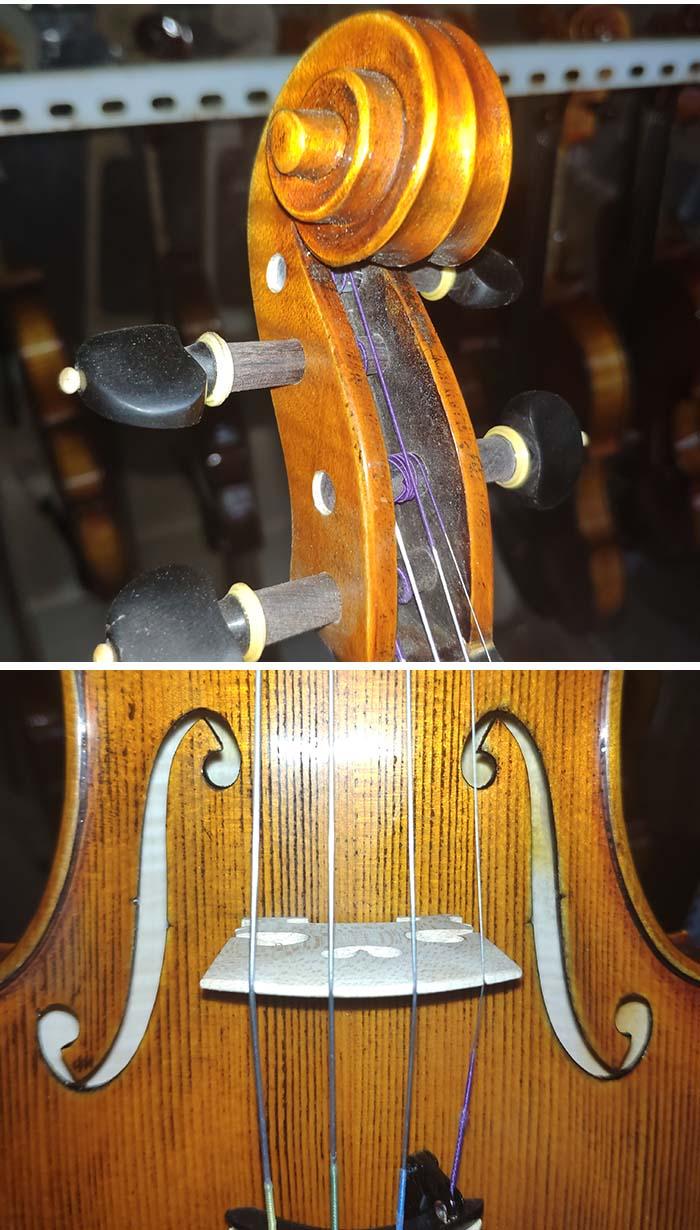 虎纹枫欧料演奏级小提琴-zd04