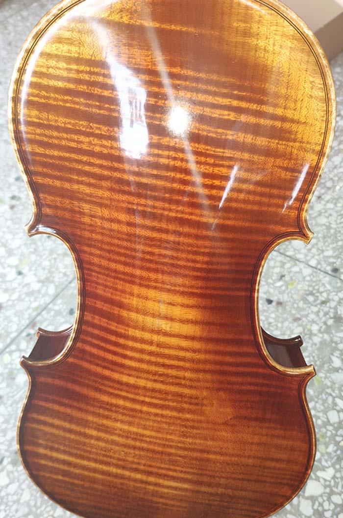 美洲虎纹枫独板小提琴-zy06