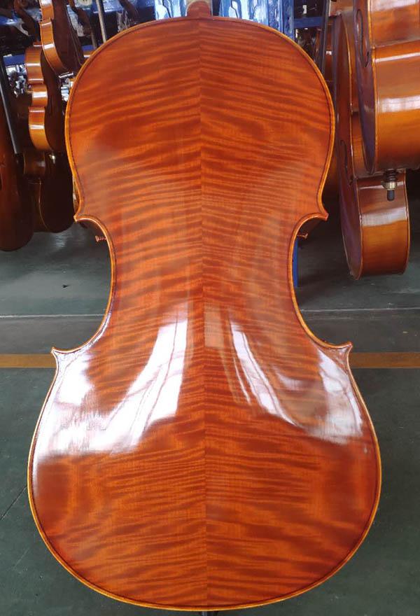 虎皮纹高档手工大提琴