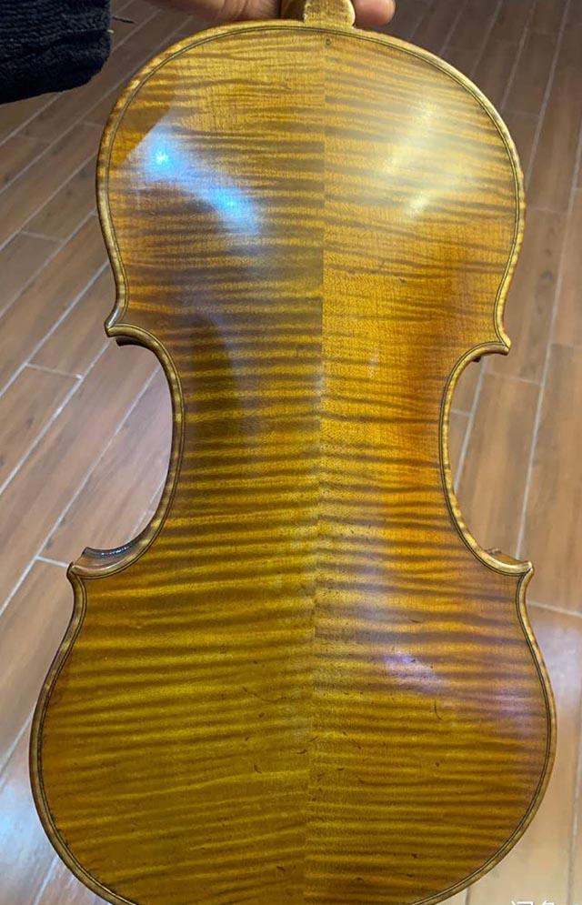 法国二手小提琴虎皮花纹