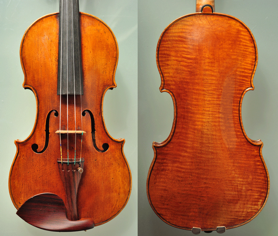 为吕思清用过的小提琴调整声音