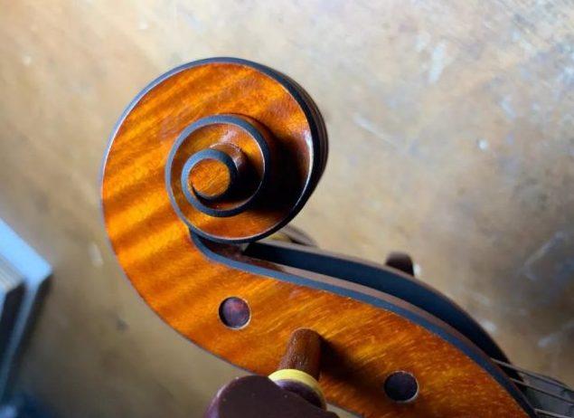 关于小提琴的黑色倒边
