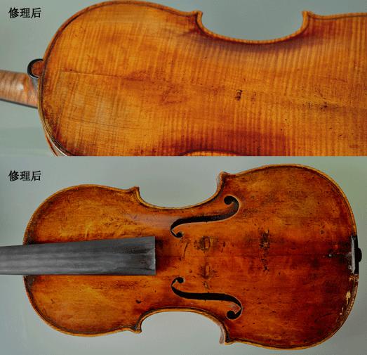 为俞丽拿老师的小提琴补油漆