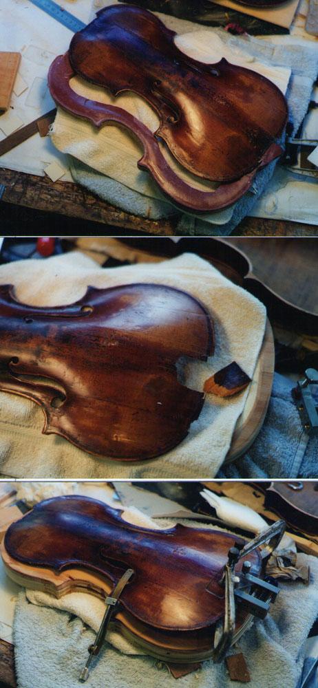 小提琴破损的面板