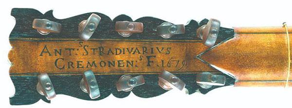斯特拉迪瓦里制作的吉他 'Sabionari' 'Sabionari'琴头