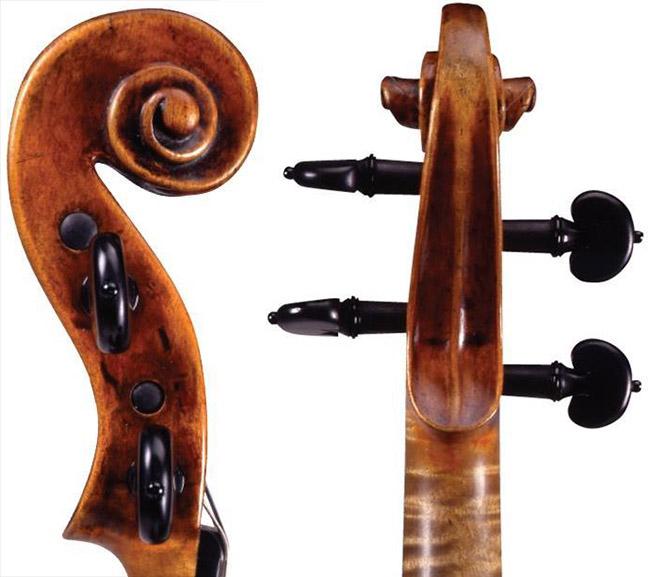 耶稣·瓜奈里1744 年 'de Bériot' 小提琴琴头