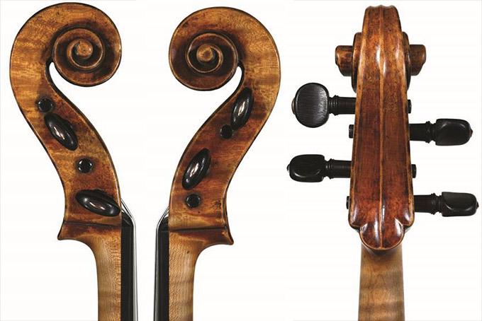斯特拉迪瓦里中提琴1715琴头